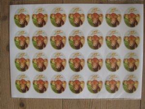 salg af Klistermærker ark med 28 stk.