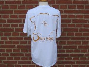 """salg af T-Shirt hvid """"Ungt Kød"""" voksen"""